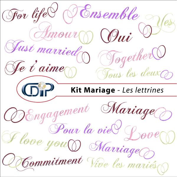 Kit « Mariage » - 07 - Les lettrines
