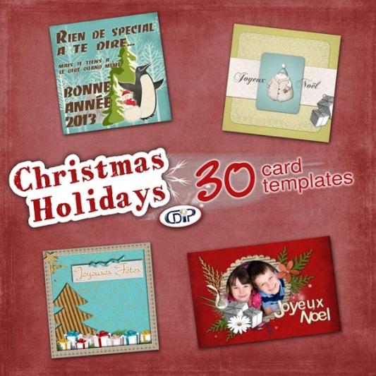 """Christmas Holidays"" card templates - 00 - Presentation"