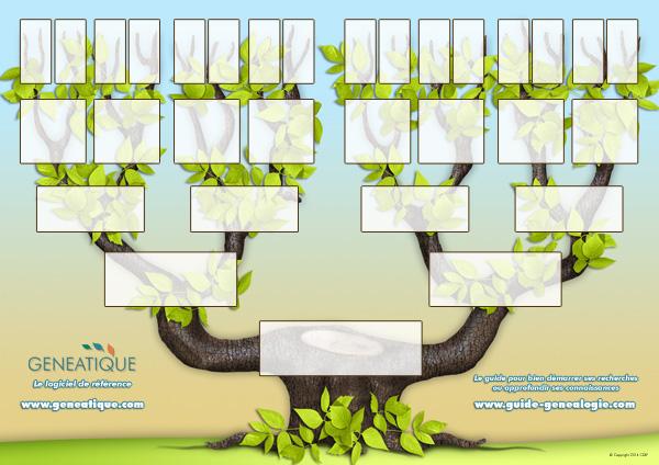 Arbre Genealogique Ascendant De 5 Generations A Imprimer Cdip