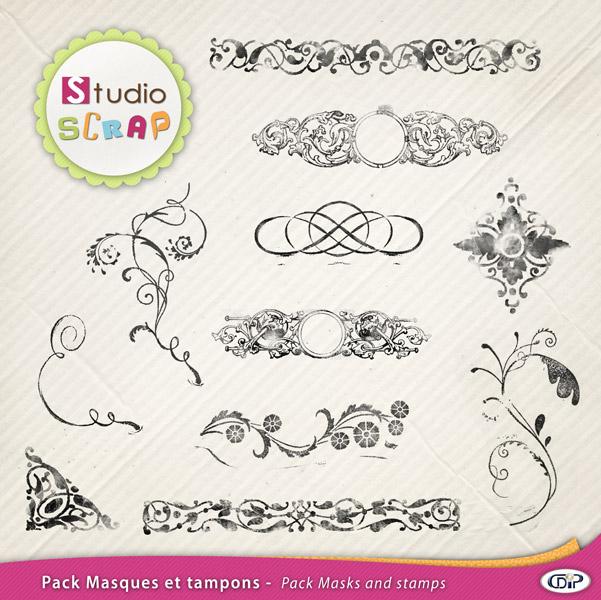 Arabesque Pour Word pack masques et tampons en téléchargement | cdip boutique - logiciel