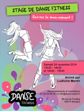 affiche stage danse fitness web
