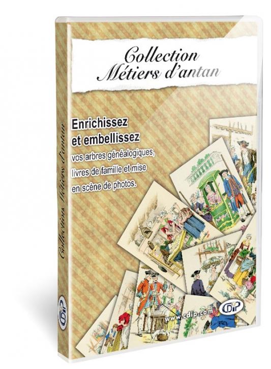 Collection métiers d'antan - boite 3d