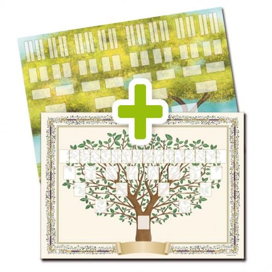 Pack 2 arbres imprimés A2