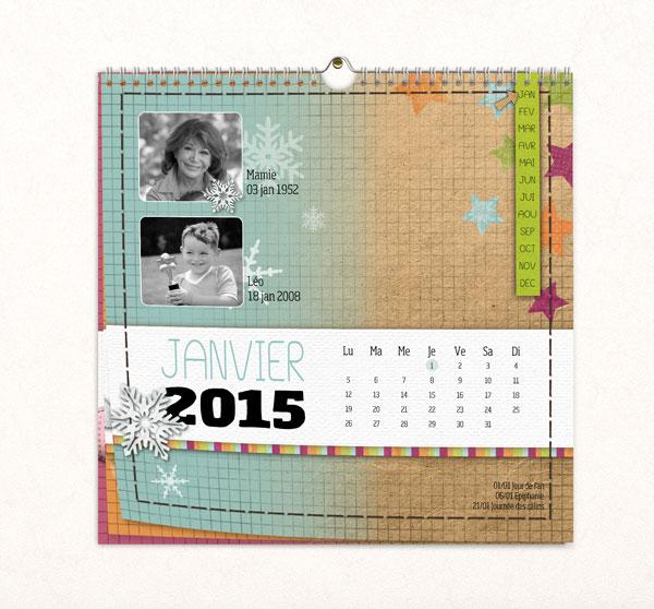 Calendrier Scrapbooking.Nouveau Faites Imprimer Votre Calendrier Avec Studio Scrap