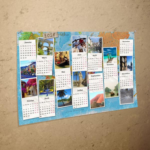 Pack calendriers 2018 en t l chargement cdip for Calendrier digital mural