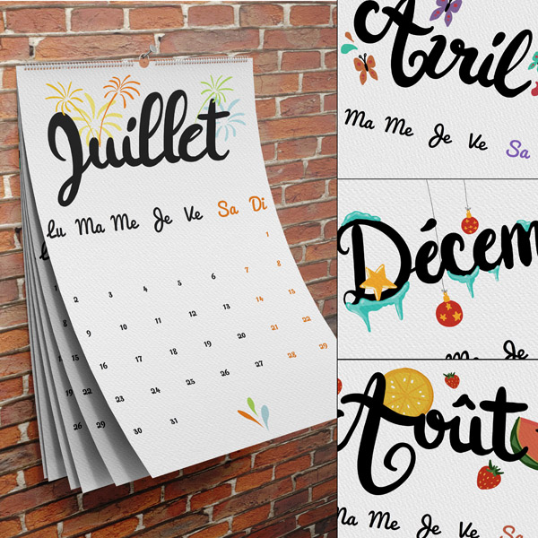Pack calendriers 2018 en t l chargement cdip for Calendrier digital mural