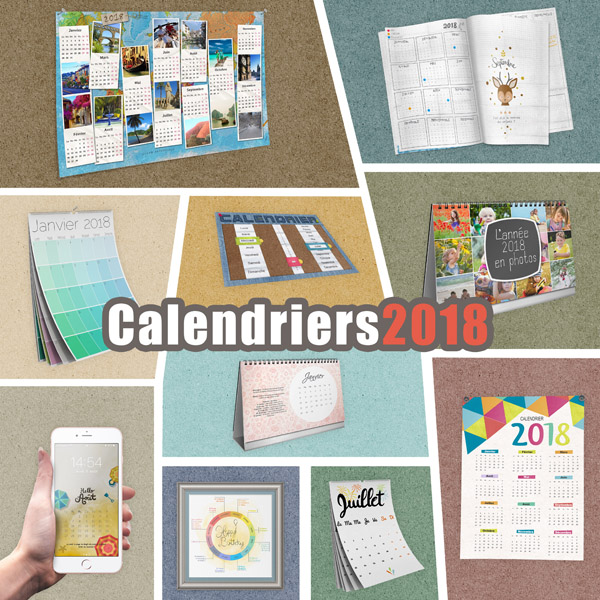 pack calendriers 2019