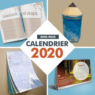 mini pack calendriers 2020