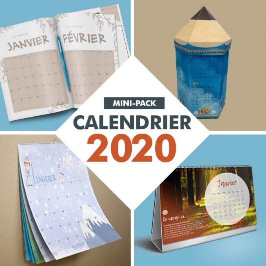 mini pack calendriers 2020