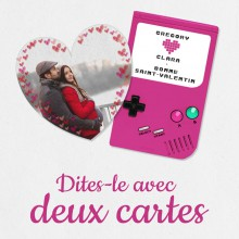 Deux cartes de Saint-Valentin