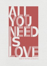 you need is love