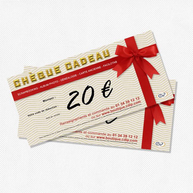 Chèque cadeau à recevoir par la poste