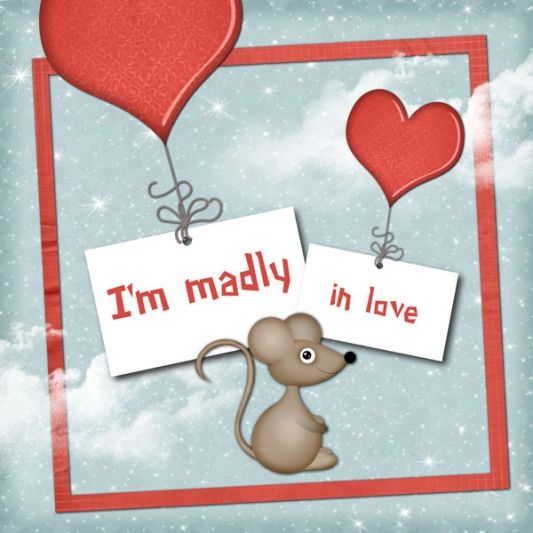 « Love cards » card templates - 38 - Composition