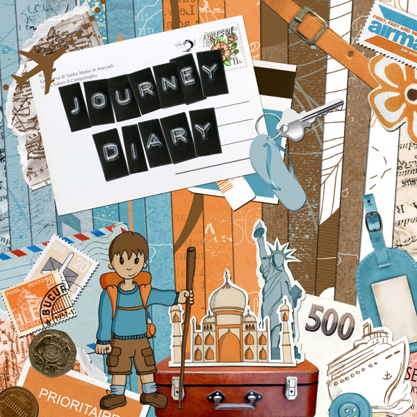 « Journey diary » digital kit - 00 - Presentation