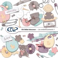 Kit « Bebe douceur » - 02 - Les embellissements 1