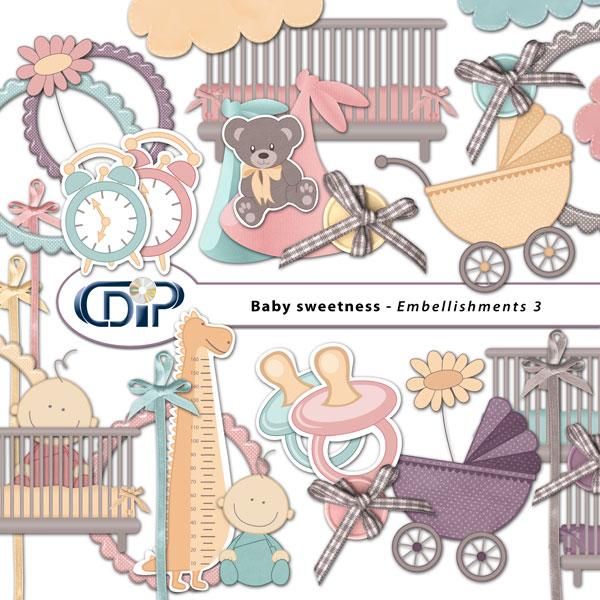 """Baby sweetness"" digital kit - 04 - Embellishments 3"