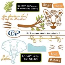 Kit « Bienvenue au zoo » - 05 - Les gabarits 1