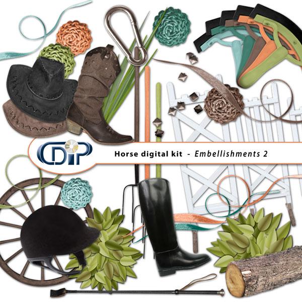 """Horse"" digital kit - 03 - Embellishments 2"