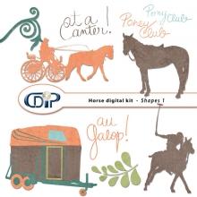 """""""Horse"""" digital kit - 05 - Shapes 1"""