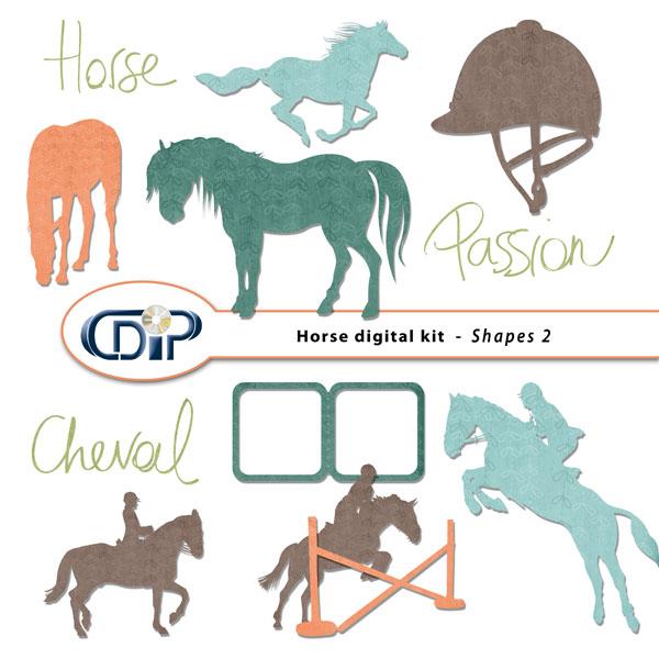 """""""Horse"""" digital kit - 06 - Shapes 2"""