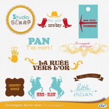 chroniques du far west gabarits wordart
