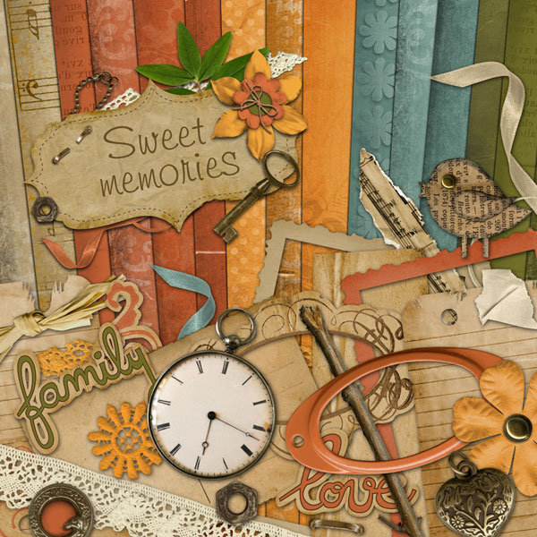 """Sweet memories"" digital kit - 00 - Presentation"