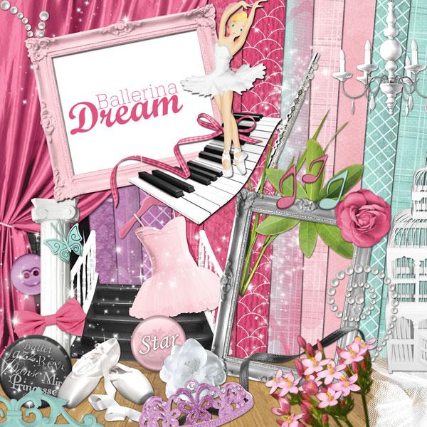 """Ballerina Dream"" digital kit - 00 - Presentation"