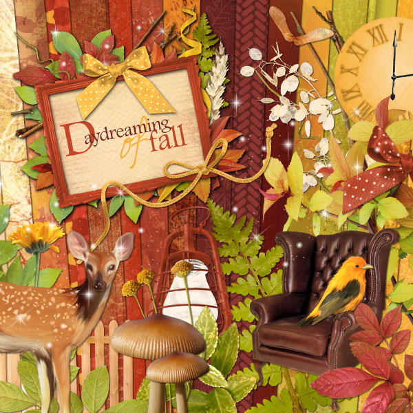 """Daydreaming of Fall"" digital kit - 00 - Presentation"
