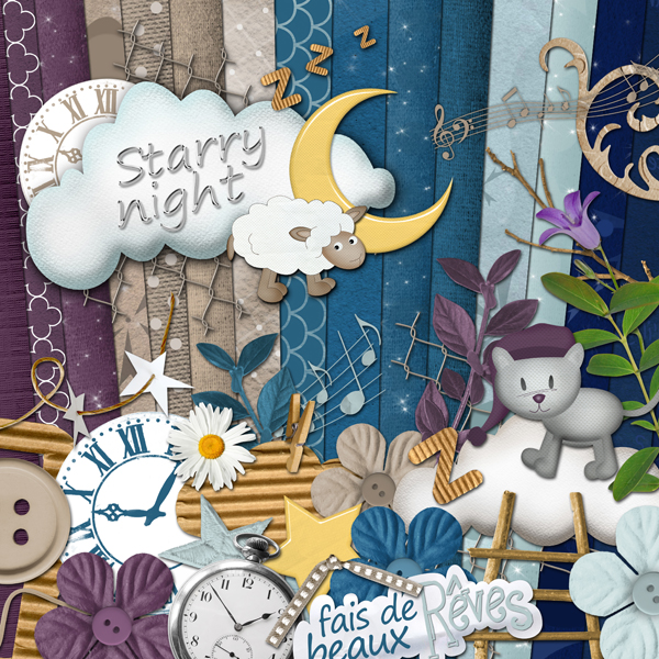 """Starry Night"" digital kit - 00 - Presentation"
