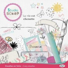 Crazy doodles embellishments 01