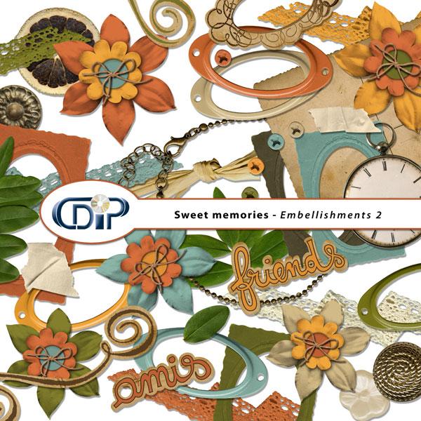 """""""Sweet memories"""" digital kit - 03 - Embellishments 2"""