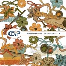 """""""Sweet memories"""" digital kit - 04 - Embellishments 3"""
