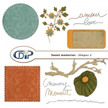 """Sweet memories"" digital kit - 06 - Shapes 2"