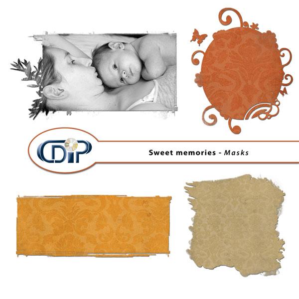 """Sweet memories"" digital kit - 08 - Masks"