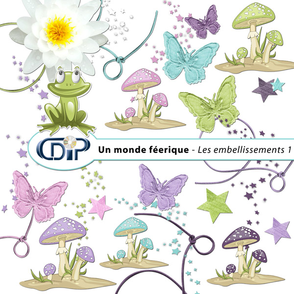 Kit « Un monde féerique » - 02 - Les embellissements 1
