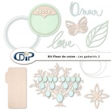 Kit « Fleur de coton » - 07 - Les gabarits 2