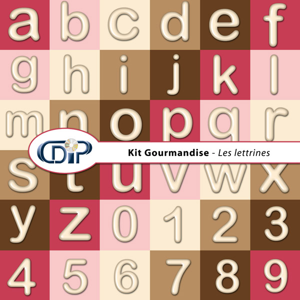 Kit « Gourmandise » - 07 - Les lettrines