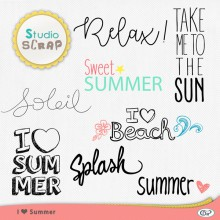 love summer gabarits wordart