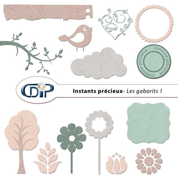 Kit « Instants précieux » - 05 - Les gabarits 1