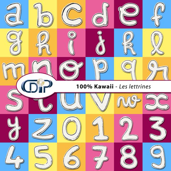 Kit « Kawaii » - 07 - Les lettrines