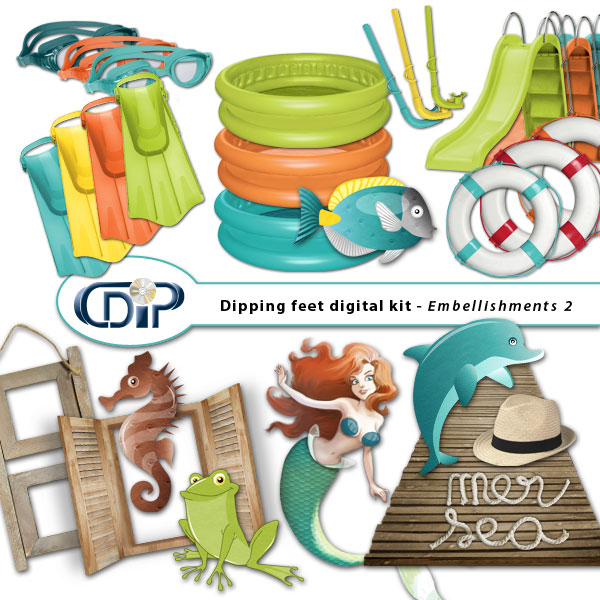 """Dipping Feet in Water"" digital kit - 03 - Embellishments 2"
