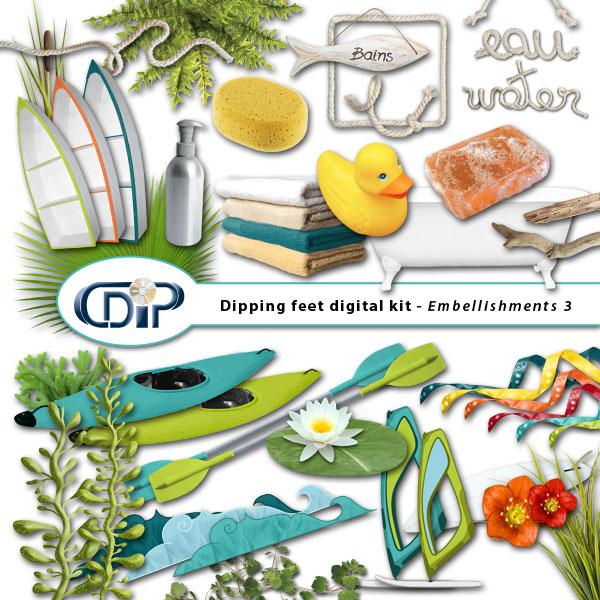 """Dipping Feet in Water"" digital kit - 04 - Embellishments 3"