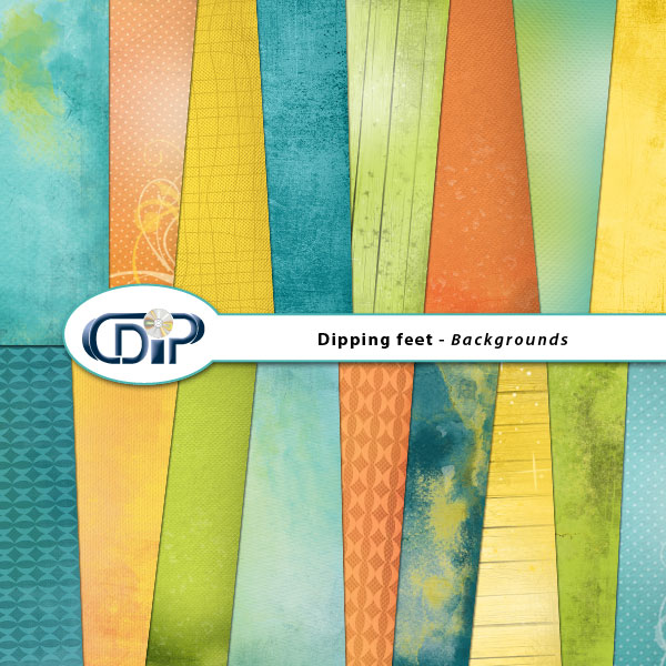 """""""Dipping Feet in Water"""" digital kit - 01 - Backgrounds"""