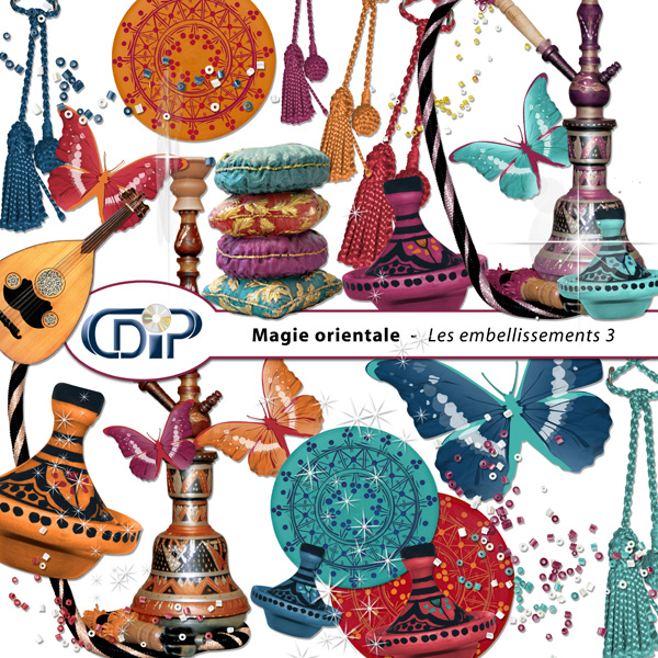 Kit « Magie orientale » - 04 - Les embellissements 3
