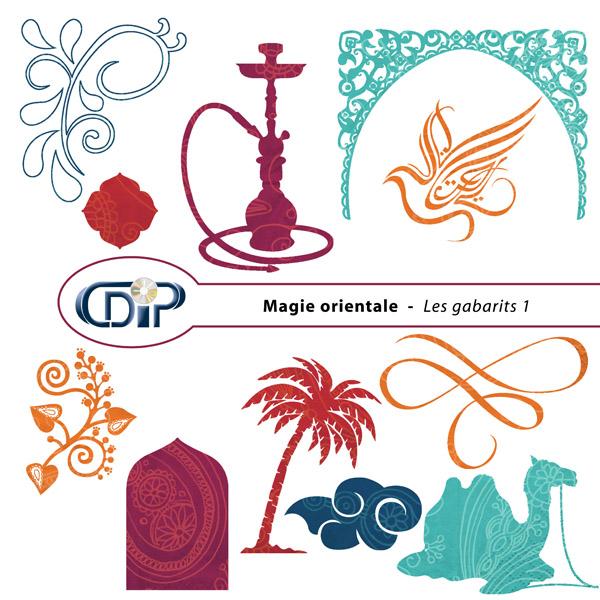 Kit « Magie orientale » - 05 - Les gabarits 1
