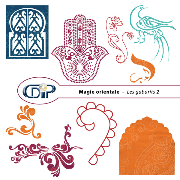 Kit « Magie orientale » - 06 - Les gabarits 2