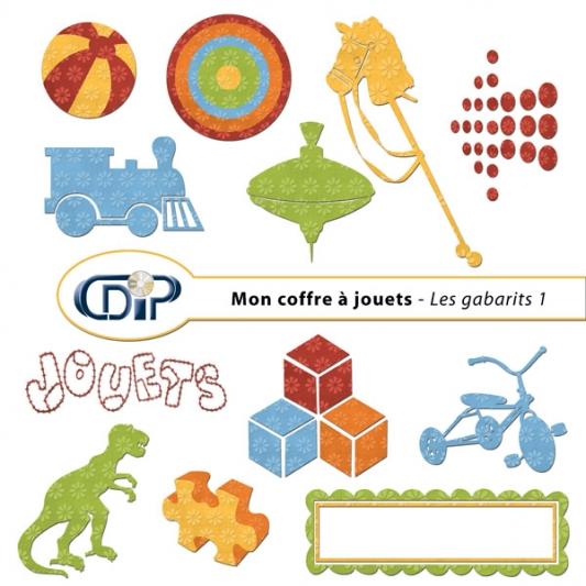Kit « Mon coffre à jouets » - 05 - Les gabarits 1