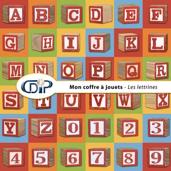 Kit « Mon coffre à jouets » - 07 - Les lettrines