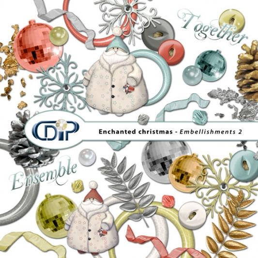 """Enchanted Christmas"" digital kit - 03 - Embellishments 2"