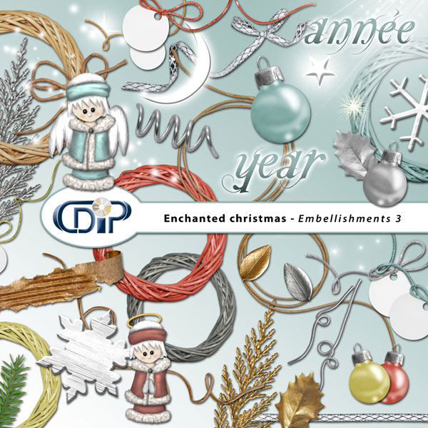"""Enchanted Christmas"" digital kit - 04 - Embellishments 3"